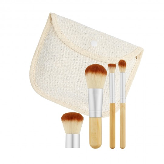 MIMO by Tools For Beauty, Set Pennelli Makeup Viso 4 Pezzi, Da Viaggio