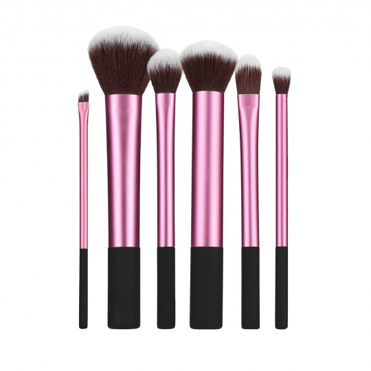 MIMO by Tools For Beauty, Set Pennelli Makeup Viso 6 Pezzi, Rosa
