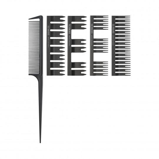 LUSSONI by Tools For Beauty, DC 500 Set Pettine A Coda: Pettine + 4 Testine - 1