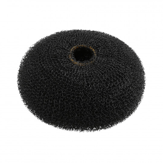 LUSSONI HR ACC HAIR BUN RING BLACK 90MM