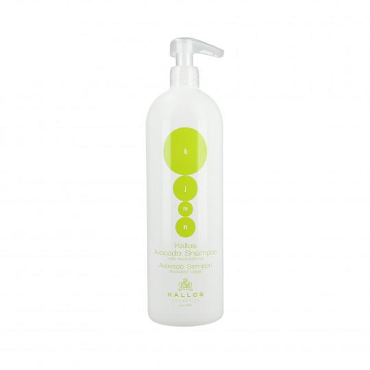 KALLOS KJMN Avocado Shampoo rigenerante con olio di avocado 1000ml - 1