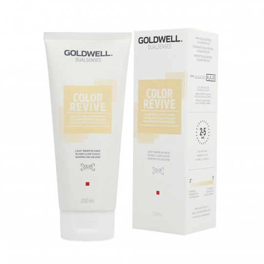 GOLDWELL DUALSENSES COLOR REVIVE Balsamo per capelli Light Warm Blonde 200ml - 1