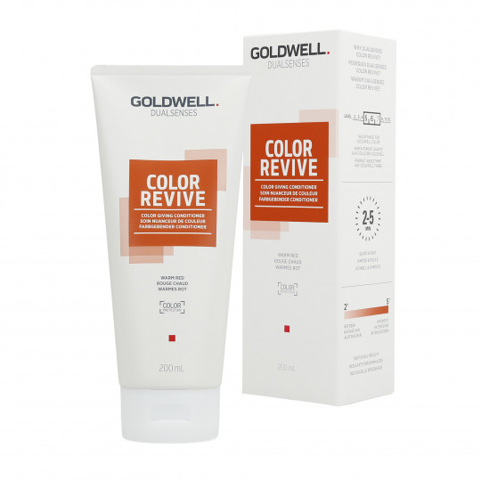 GOLDWELL DUALSENSES COLOR REVIVE Balsamo per capelli Warm Red 200ml - 1