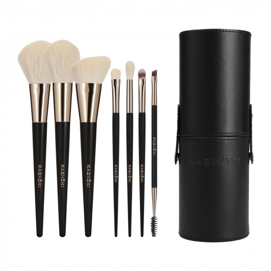 Kashōki by Tools For Beauty, SUISEN Set Pennelli Makeup Con Porta Pennelli A Tubo, 8 Pezzi - 1