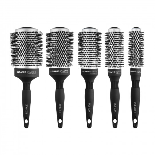 LUSSONI by Tools For Beauty, Care&Style - 5 Pezzi Set Spazzole Rotonde Per Capelli Professionale - 1