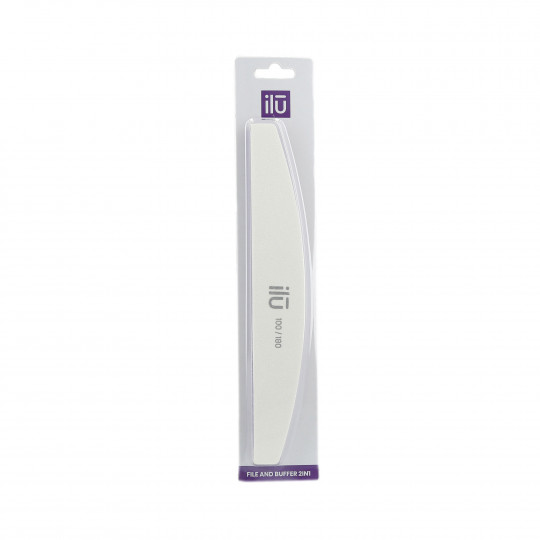 ilū by Tools For Beauty, 2in1 Lima & Buffer, Mezzaluna, 180/100