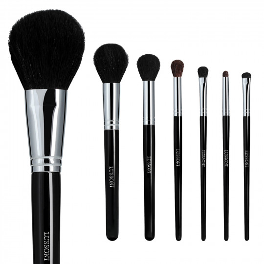 LUSSONI Natural Smoothness 7 Pcs Professional Makeup Brush Set