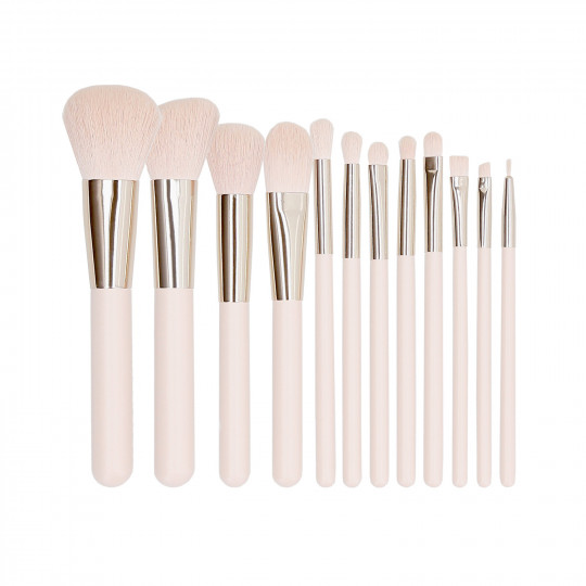 MIMO by Tools For Beauty, Set Pennelli Makeup Viso 12 Pezzi, Rosa - 1