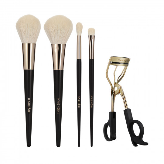 Kashōki by Tools For Beauty, ONIYURI Set Pennelli Makeup Con Piegaciglia, 5 Pezzi - 1