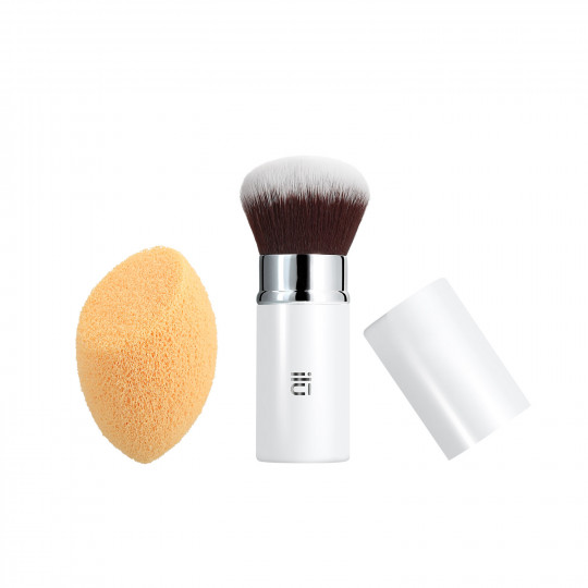 ilū by Tools For Beauty, Less Is More Set Di Pennelli Trucco Viso Makeup Professionale Spugnetta make up 2 Pezzi - 1