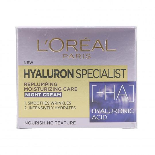 L'OREAL PARIS HYALURON SPECIALIST Crema-Maschera viso notte 50ml - 1