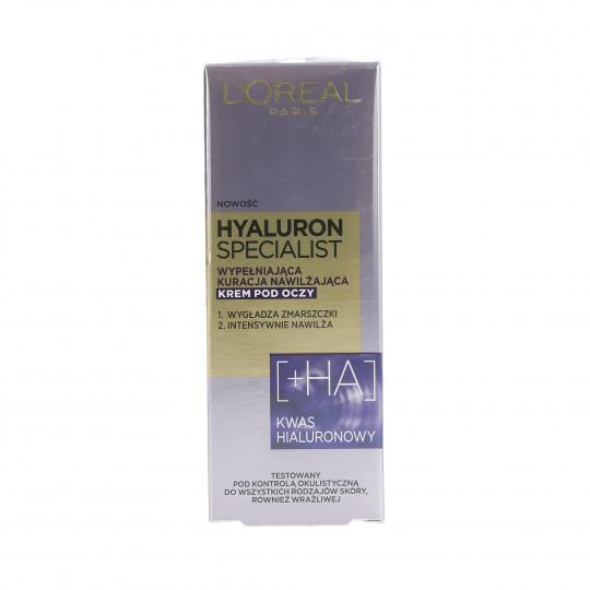 L'OREAL PARIS HYALURON SPECIALIST Crema occhi idratante 15ml - 1