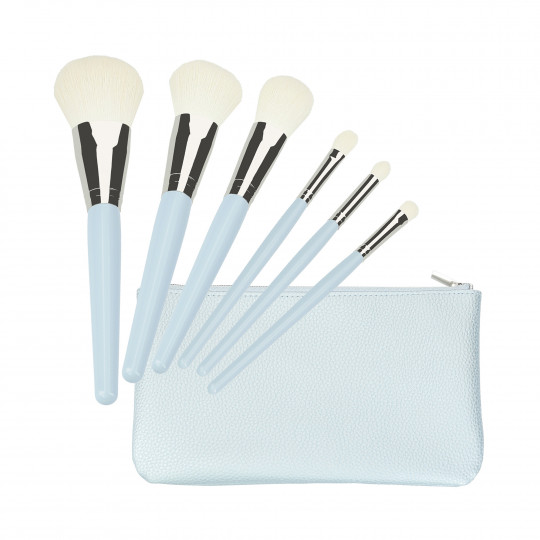 MIMO by Tools For Beauty, Set 6 pennelli trucco, blu
