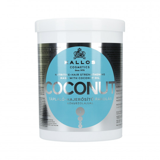 KALLOS KJMN Coconut Maschera nutriente e rinforzante 1000ml - 1