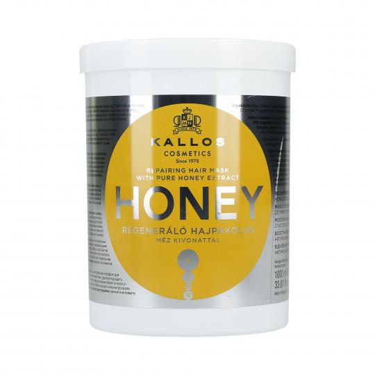 KALLOS KJMN Honey Maschera ristrutturante al miele 1000ml - 1