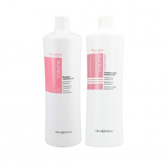 FANOLA VOLUME Set per capelli sottili Shampoo 1000ml + Conditioner 1000ml - 1