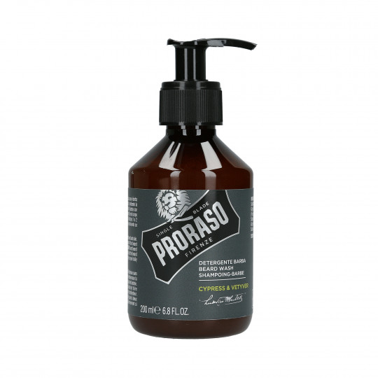 PRORASO SINGLE BLADE Cypress&Vetyver Detergente barba 200ml - 1