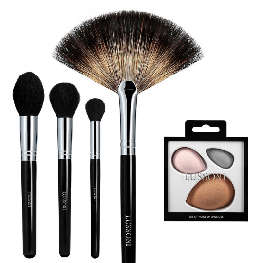 LUSSONI by Tools For Beauty, Classy Girl - 5 Pezzi Set Pennelli Makeup Professionale - 1