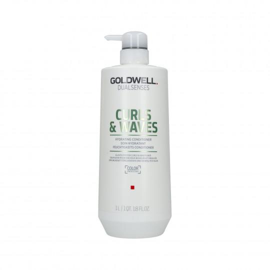 GOLDWELL DUALSENSES CURLS&WAVES Balsamo idratante per capelli 1000ml - 1