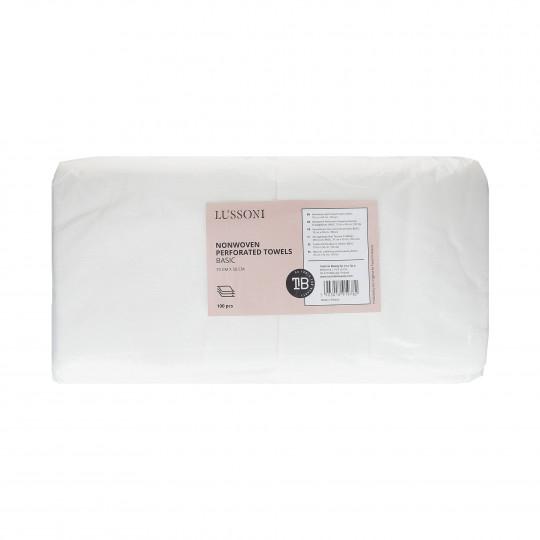 LUSSONI Asciugamano Non Tessuto Traforato Monouso, BASIC, 70 cm x 50 cm, 100 Pezzi
