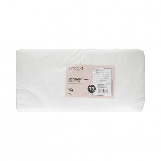 LUSSONI Asciugamano Non Tessuto BASIC EXTRA, Liscio, 70 cm x 50 cm, 100 Pezzi
