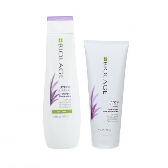 BIOLAGE HYDRASOURCE Set Shampoo 250ml + Conditioner 200ml per capelli secchi - 1