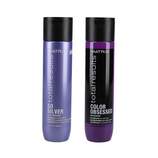 MATRIX TOTAL RESULTS COLOR OBSESSED Set Shampoo 300ml + Conditioner 300ml per capelli biondi, grigi e colorati - 1