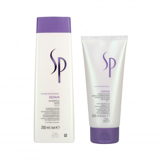 WELLA SP REPAIR Set Shampoo 250ml + Conditioner 200ml per capelli danneggiati - 1