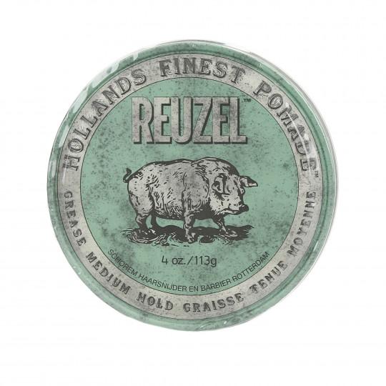 REUZEL GREEN GREASE MEDIUM HOLD POMADE 113G