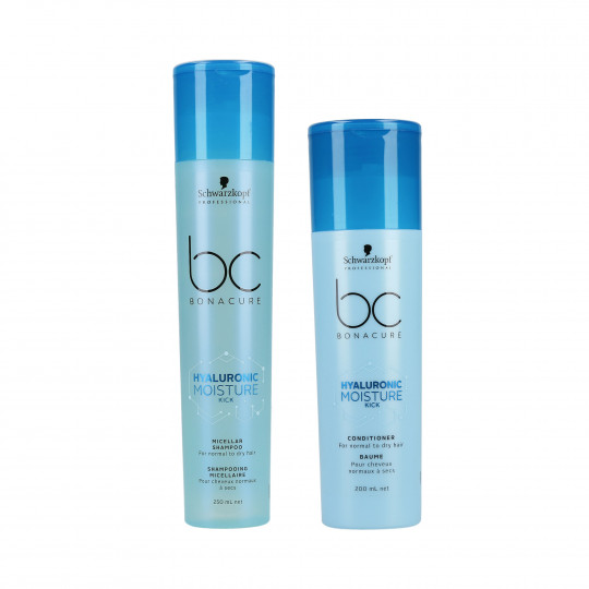 SCHWARZKOPF PROFESSIONAL BC HYALURONIC MOISTURE KICK Set Shampoo 250ml + Conditioner 200ml - 1