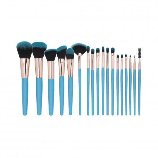 MIMO by Tools For Beauty, set di 18 pennelli per il trucco, Blu