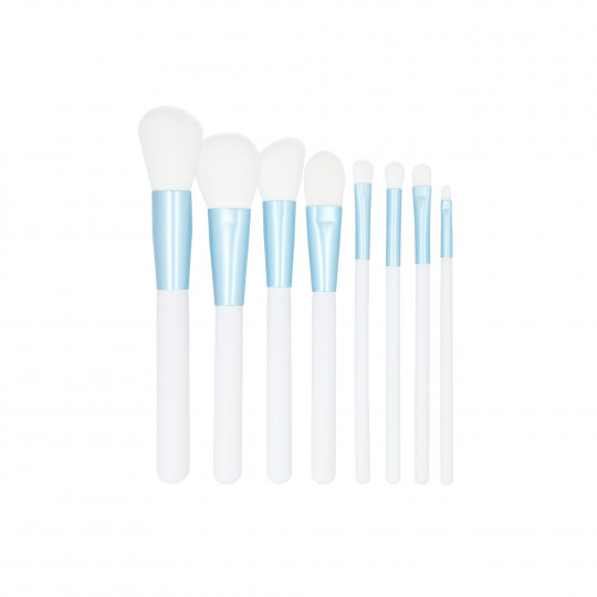 MIMO by Tools For Beauty, set di 9 pennelli per trucco, Bianco