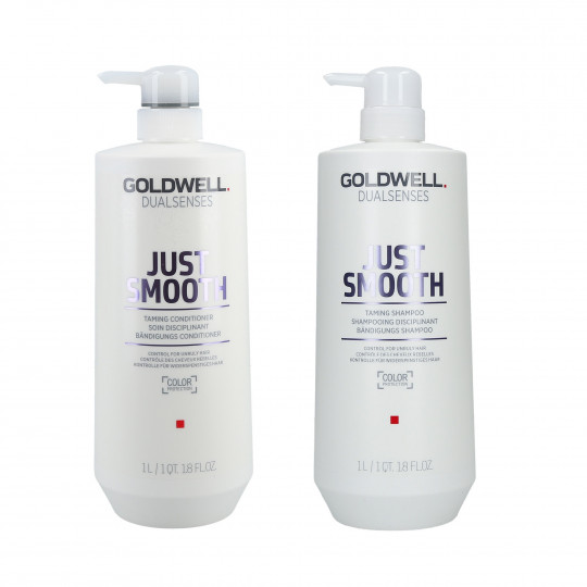 GOLDWELL DUALSENSES JUST SMOOTH Set Shampoo 1000ml + Conditioner 1000ml - 1