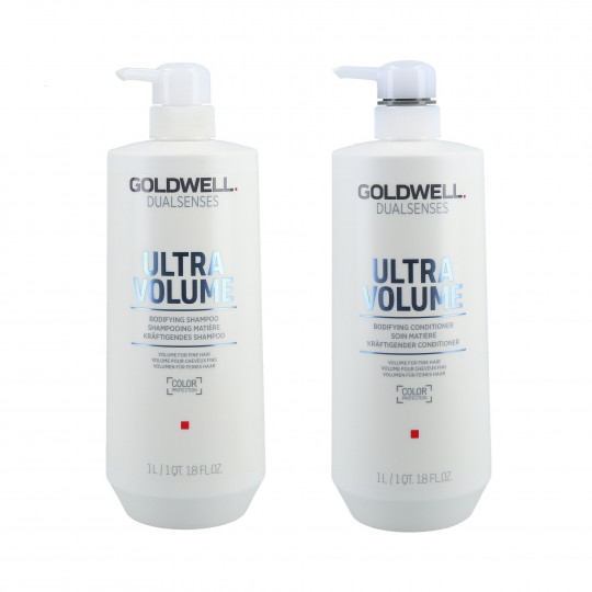 GOLDWELL DUALSENSES ULTRA VOLUME Set shampoo 1000ml + balsamo 1000ml - 1