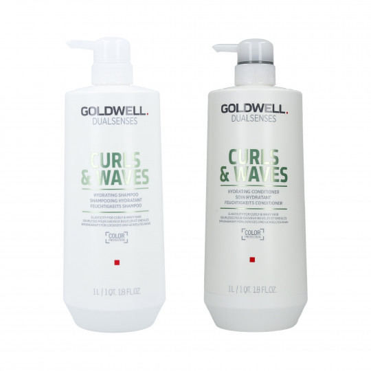 GOLDWELL DUALSENSESCURLS&WAVES Set shampoo 1000ml + balsamo 1000ml - 1