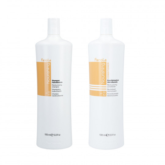 FANOLA NOURISHING Set per capelli secchi Shampoo 1000ml + Balsamo 1000ml - 1