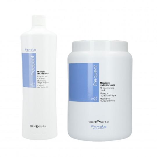 FANOLA FREQUENT Set Shampoo 1000ml + Maschera 1500ml - 1