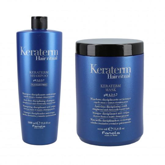 FANOLA KERATERM Set alla cheratina Shampoo 1000ml + Maschera 1000ml - 1