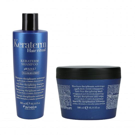 FANOLA KERATERM Set alla cheratina Shampoo 300ml + Maschera 300ml - 1