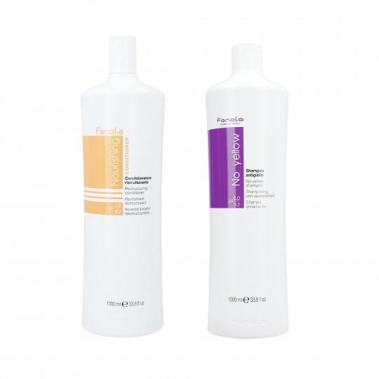 FANOLA Set per capelli secchi e decolorati shampoo 1000ml + balsamo 1000ml - 1