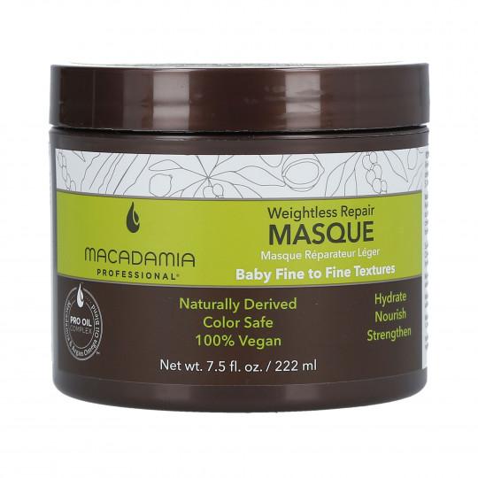 MACADAMIA WEIGHTLESS MOISTURE Maschera idratante per capelli fini 222ml - 1