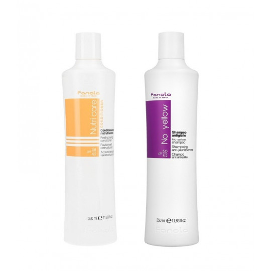 FANOLA NUTRICARE CON + NO YELLOW SH 2X350ML SET