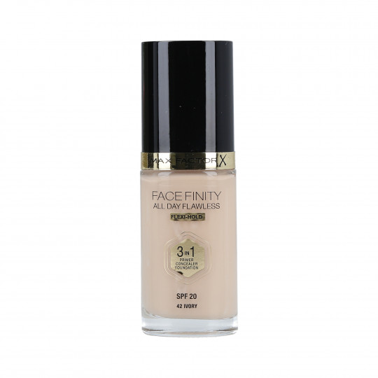 MAX FACTOR FACEFINITY All Day Flawless Fondotinta 3 in 1 42 Ivory 30ml - 1