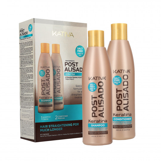 KATIVA POST STRAIGHTENING SET post lisciaggio Shampoo 250ml + Conditioner 250ml