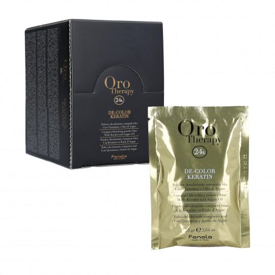 FANOLA ORO THERAPY Decolorante per capelli con cheratina 12x75g - 1