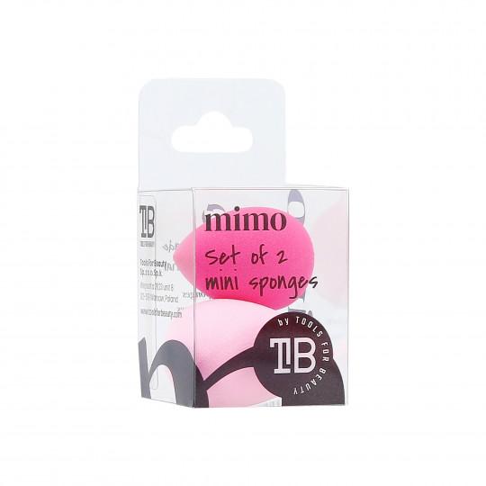 MIMO Set di Mini Spugne Makeup, 2 Pezzi, Rosa - 1