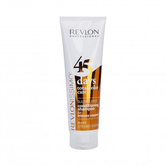 REVLON REVLONISSIMO 45 DAYS Intense Coppers Shampoo e balsamo colore 275ml - 1