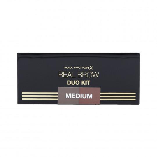 MAX FACTOR REAL BROW DUO KIT Palette per sopracciglia 02 Medium - 1