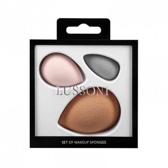 LUSSONI Set Spugne Makeup , 3 Pezzi - 1